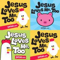 Customized Jesus lovely stickers