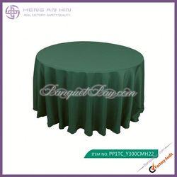 wholesale hunter green polyester visa round tablecloths for wedding manufacturer