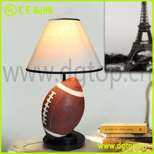 Creative non dimmable rugby table lamp