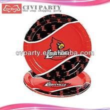 custom party plates,round party supplies plates cheap sulphite sandwich paper