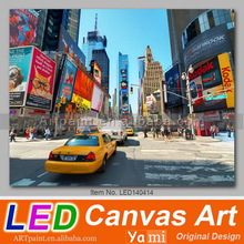 Flickering New York Cityscape Led Wall Painting Light of Car