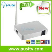 2014 bestseller Quad- core iptv box 1080P HDMI support youtube bluetooth skype webcam XBMC miracast chromecast Android TV box