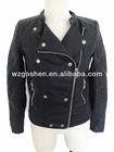 2014 hot fashion pu jacket leather pu jacket women clothing Crocodile fabric