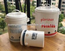 Potatos/Onions/Garlics storage bins/vegetable storage canister set