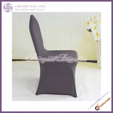 wholesale Fine dark grey spandex Chair Cover /Lycra Chair Cover for wedding,banquet,party manufacturer