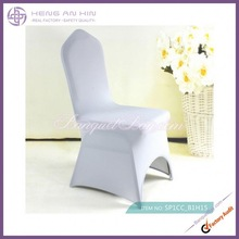 wholesale silver cover with front arch lycra chair covers for wedding manufacturer