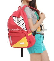Factory new design fashion cheap canvas backpack wholesale