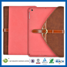 C&T Exquisite wallet pu leather case for ipad 2 3 4 5 air