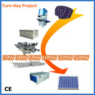 Low Cost 1Mw 5MW 10Mw 25Mw Photovoltaic Solar Panel Manufacturing Equipments Production Line PV