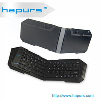 Hapurs foldable wifi bluetooth keyboard/ for tablet PC/iPad/iPhone 5/Android bluetooth wireless keyboard