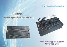 GSM modem 32 ports,RS232/USB interface,850/900/1800/1900MHZ gsm/gprs modem gps wifi gsm module