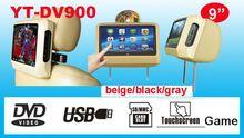 9'' Headrest Car Dvd With 16:9 Lcd Monitor Good Quality Car Headrest Dvd Player