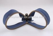 Metal 5# nikel preto aberto- fim zipper com controle deslizante para a jaqueta de couro