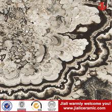 300*300 inkjet print unique design ceramic black zebra marble tiles