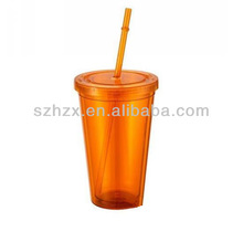 non alcoholic wholesale plastic tumbler with lid and straw