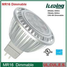Spotlight gu10 5w MR16 AC/DC 12V Dimmable UL CUL Approved