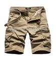 Camuflagem carga calças para homens; shorts dos homens; moda masculina bermudas cargo; bermuda mens