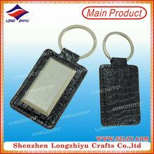 Card holder key chain, cute bifold leather card holde