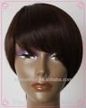 natural de color nuevo brasileño corto peluca del pelo humano