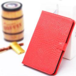 Stylish Crocodile Pattern Stand Flip Leather Case for iPad Mini