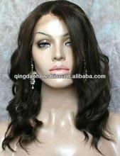top fashion wavy brazilian hair shoulder length lace front wig