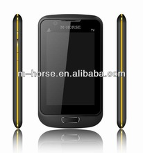 M-HORSE 4'' screen torch light dual sim card cheapest china mobile phone in india