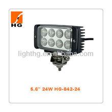 HOT !!24W rectangle LED worklight,led work light!Flood beam pattern(60degree) & Spot beam pattern(30 degree) HG-842-24