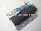 rubber flock carpet.anti slip rubber back with flocked microfiber top