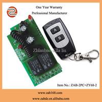 ZAB-2PC+ZY68-2E,Learning code DC12V,2CH wireless electronic lock remote control,80M waterproof black remote