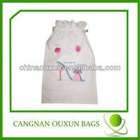 customized nylon drawstring shoe bag