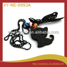 Fashion Hello Kitty shape pendant beads chain necklace for kids