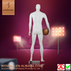 Attractive playing sports basketball male models
