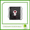 Eco customized polyester bag or nylon drawstring backpack