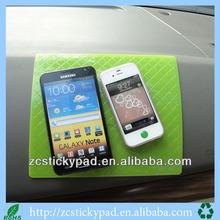 mobile pu sticky pad/silicone sticky dashboard pad/anti-slip sticky pads