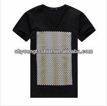 men merino wool t-shirt/cheap plain black cotton t-shirts/wholesale cheapest printing designer black tshirts