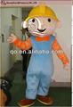 popular personaje humano bob el constructor traje de la mascota