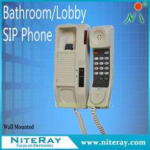 Funny telephone voip ip phone keys in handset.