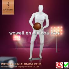 New fiberglass men playing basketball mannequin