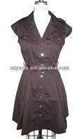 2014 New Fashion Women Cotton Dress With Pocket