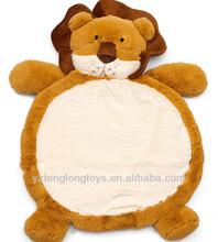 Soft plush animal baby play mat, baby gym mat