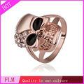 Anel de caveira atacado jóias & anel de ouro 18 k FPR515-8