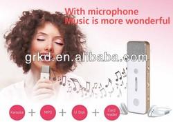 Fashional design portable karaoke player,cheap mp3 players made in China