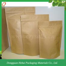 Three color printed kraft paper bag with plastic liner