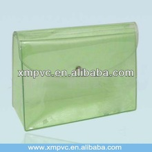Beautiful button clear pvc packaging case