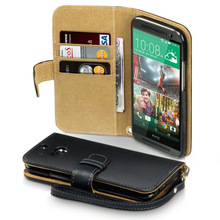 Premium PU Leather Wallet Case with Credit card For HTC ONE M8