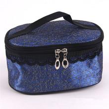 big capacity elegant cosmetic bag with mirror