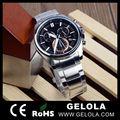 Anti-horário aquamarine relógios com o logotipo personalizado