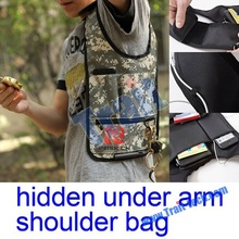 Nylon Anti-Theft Multi Function Multi Pockets Hidden Under Arm Shoulder Bag
