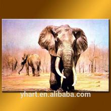 Newest Art Painting Handmade Ganesha Modern Art On Canvas