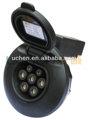 62196-2 16a 7 pines del conector din con cierre electrónico de solenoide con control manual/conductora acoplador de carga/toma de coche